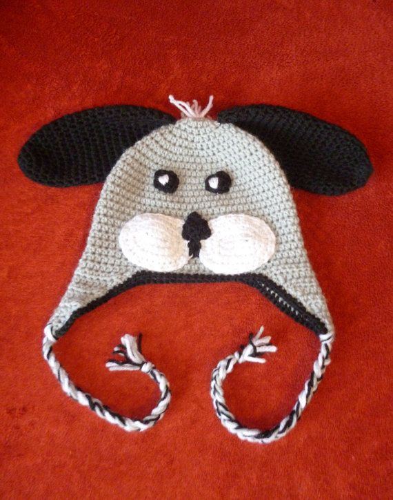 crochet hat/ dog hat/ dog beanie/ crochet dog by HeartMadeByMarina