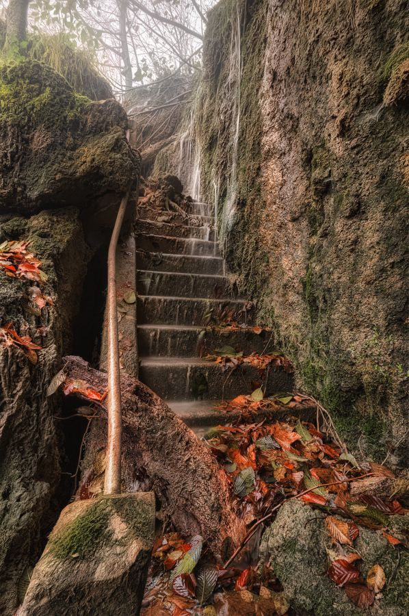 """Forgotten stairs"" by Ivan Prebeg, via 500px Plitvice lakes national park, Croatia"