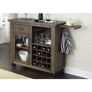 Luxury Rustic Wine Bar Cabinet
