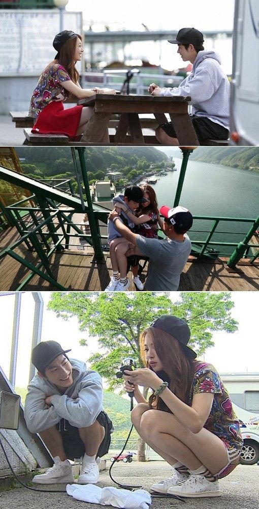 Yura and Hong Jong Hyun go bungee jumping in preview cuts for 'We Got Married' | allkpop