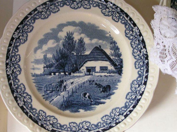 Maastrichts aardewerk » Ontbijtbordjes Boerenhoeve | De Soetelaer