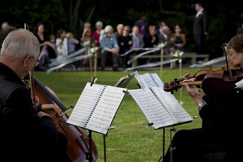 """Hum a few bars, pay cash, and make room for the bows: The """"do's and don'ts"""" of hiring a string quartet 