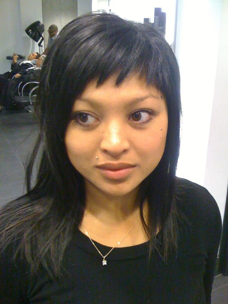 short haircut with long bangs best 25 choppy side bangs ideas on layered 2090 | 7e0e08d494254553d467c43553208549 short choppy bangs bangs long hair