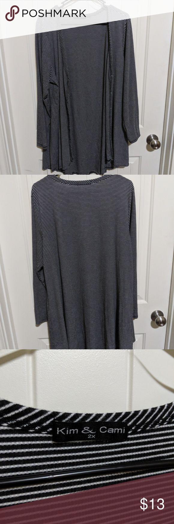 Striped Cardigan Black and White striped cardigan. Kim & Cami Sweaters Cardigans