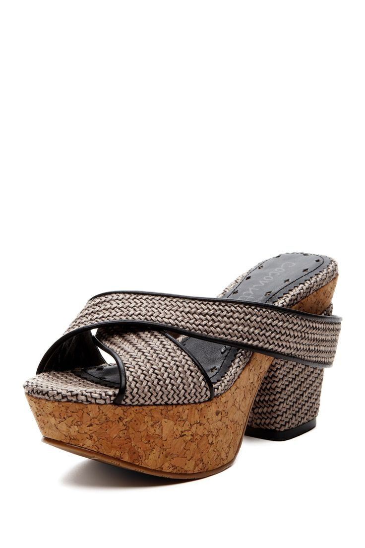 Matisse Lotus Cork Slide Platform Sandal