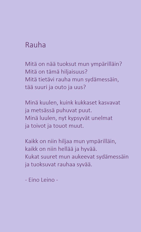 Rauha - Eino Leino