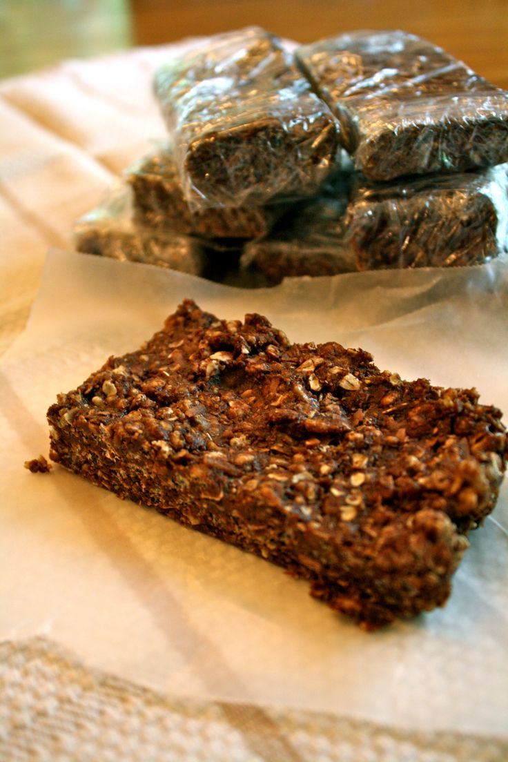 Homemade Clif Bars - Chocolate