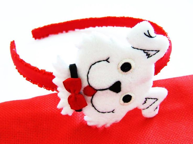 felt headband puppy