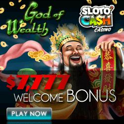 'God of Wealth' is brand new 5 reel, 25 payline video slot which is now LIVE at Slotocash (tinyurl.com/p2ehbo8) and Uptown Aces (tinyurl.com/ho3mdnf)!