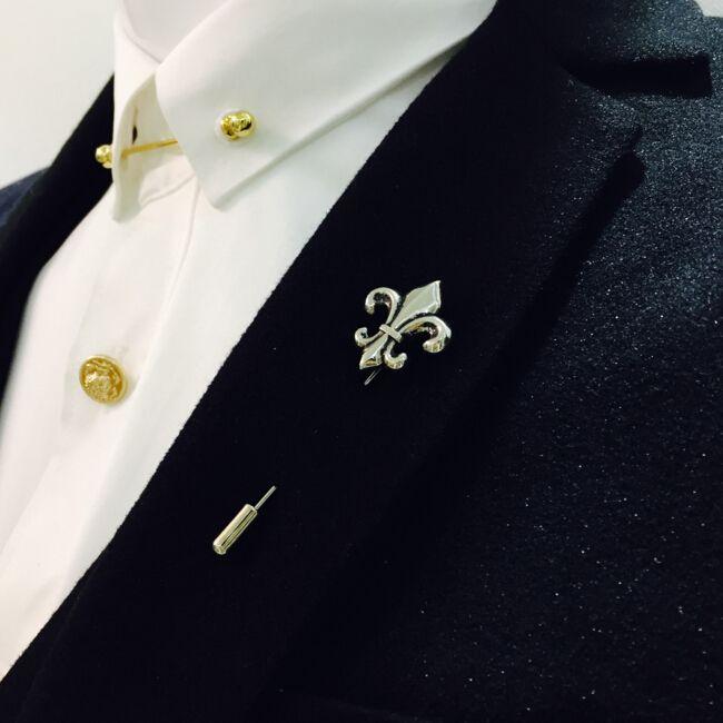 レトロゴールドシルバーブロンズクロス男性ブローチピンスーツアクセサリーラペルピン用メンズスーツウェディングパーティー長いピンブローチ