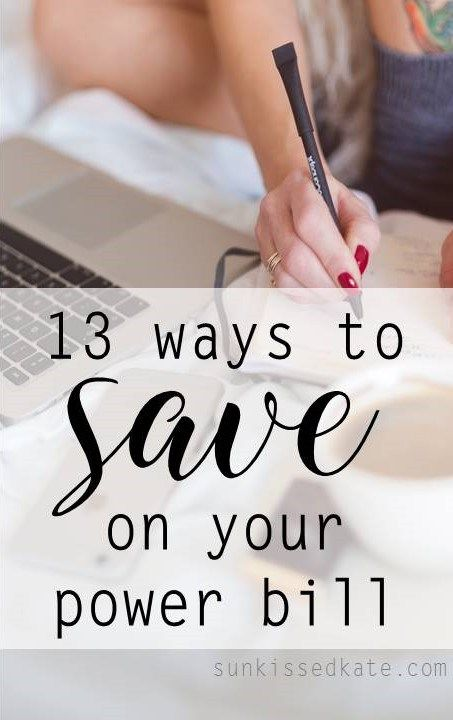 Almost everything now a days plugs in, making your power bill likely one of your biggest bills. But it doesnt have to be, check out how I keep my power bill down in 13 simple ways! | sunkissedkate.com