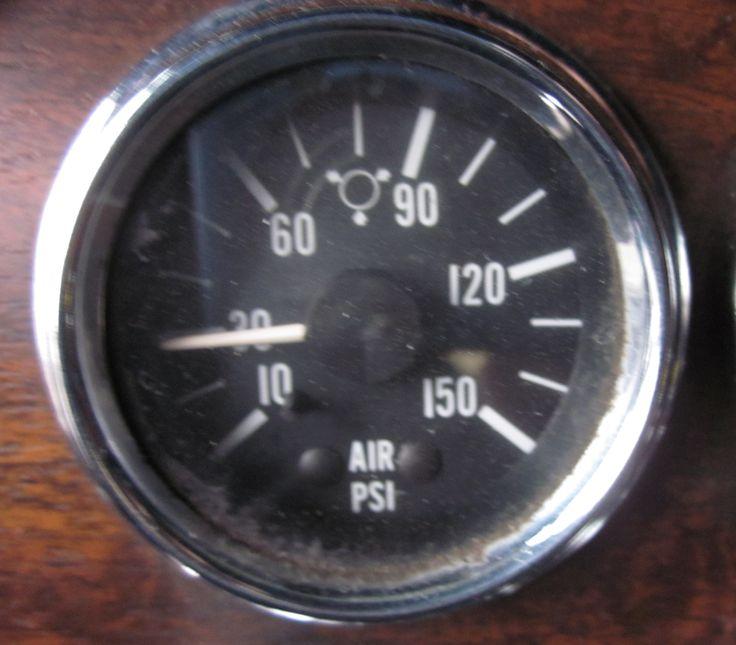 Air brake gauges application psi peterbilt cabover