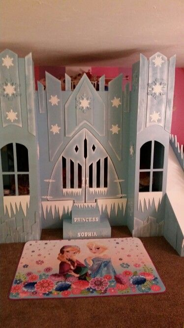 Frozen castle bed for my daughter