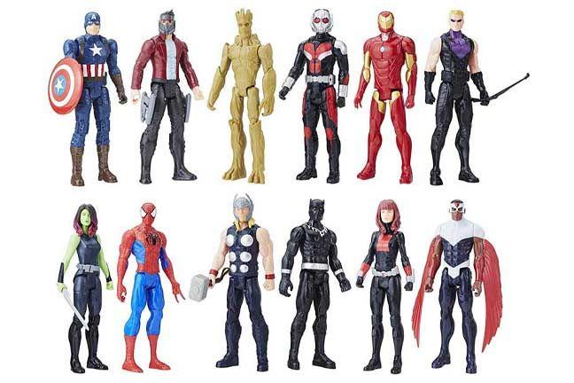 """THOR /& BLACK WIDOW Titan Hero Series 11/"""" Action Figures! Avengers Infinity War"""