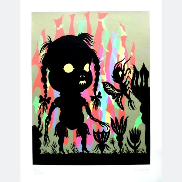 Stephane Blanquet, Born: 1973 France, Extatique, Silkscreen on 250 g paper, 50 x 40 cm, 2011
