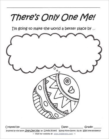 "I love love love ""Only One You"" and Linda Kranz! Her site is great with lots of great ideas to use. I think I will put some of her ""Life Lessons"" up around my classroom! ""Always be the best you can be!"" ""Notice beauty and kindness!"" I love it!"