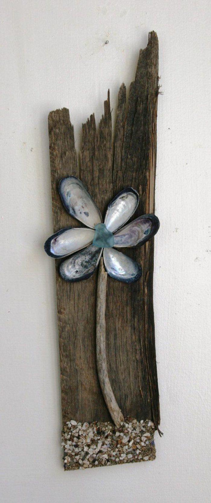 Déco bois flotté bleu lampe en bois flotté cadre bois flotté