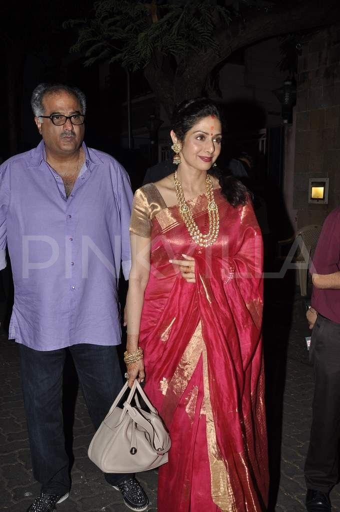 Sridevi, Boney Kapoor snapped after Karwa Chauth