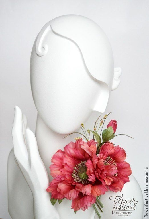 """Silkflowers. Цветы ручной работы. Ярмарка Мастеров - ручная работа Оксаны Чистовой. Мак из шелка """"Лето красное"""". Цветы из шелка. Красный. Алый. Handmade."""