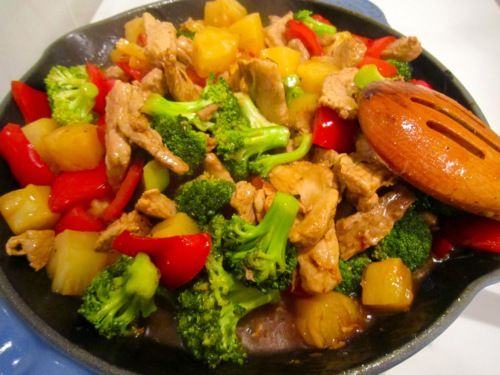 Like the Beef and Scallion Stir-Fry, this is another dish that's not only faster than Chinese take-out but tastes better than take-out. The only thing I would actually change though is to cook it in a large saucepan versus a skillet since there were just to many ingredients to fit in the skillet. But other …