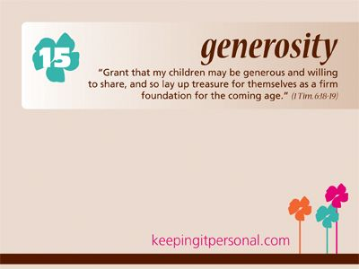 The Virtue of Generosity
