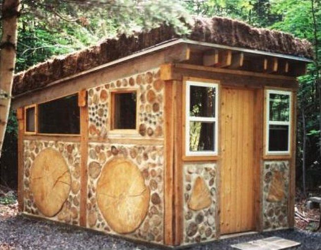 Cordwood Cabin by Rob Roy from his 'The Sauna, A Complete Guide': books.google.com