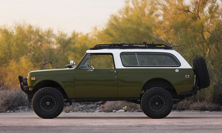 The legendary Jeep once had a competitor vying for pre-SUV supremacy. International Harvester introduced the International Scout in 1961 and continued producing the vehicle until 1980. It became popular among the off-road racing crowd, as drivers customized their International Scouts to tackle just about anything. What you see here is