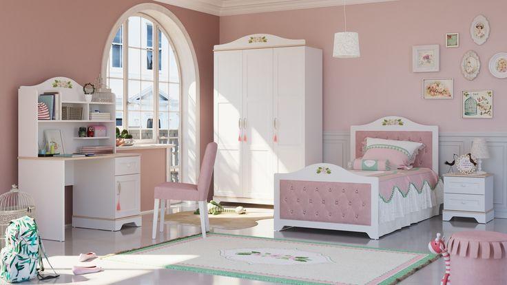 Kinderzimmer Set Komplett Katharina 4 Teilig Kinder Zimmer Modernes Schlafzimmer Design Kinderzimmer