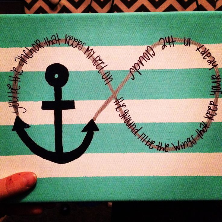 Anchor canvas with quote!
