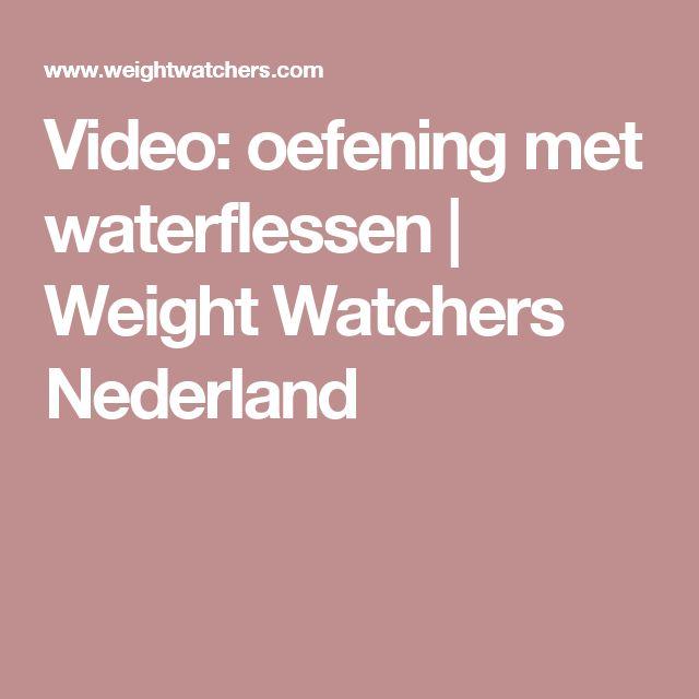 Video: oefening met waterflessen | Weight Watchers Nederland