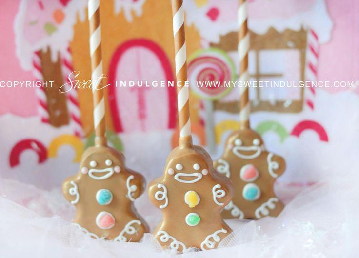 gingerbread man cake pops