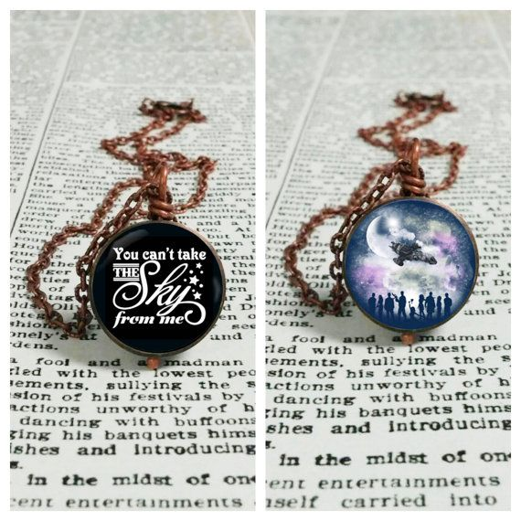 Firefly Reversible Necklace - You Can't Take The Sky From Me & Firefly Serenity Cast #VeryWhedonChristmas