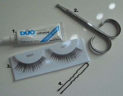 how to apply false lashes if you cant see well