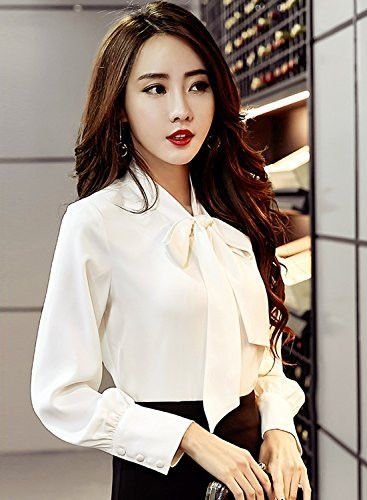 Do you like this on That's So Pretty? Azbro White Solid.... Have a closer look here http://www.pretty.boutique/products/azbro-womens-solid-long-sleeve-bow-tie-collar-button-down-shirt-khaki-xxl?utm_campaign=social_autopilot&utm_source=pin&utm_medium=pin.