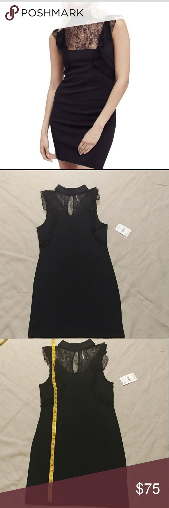 Free People dress The perfect little black dress. Beautiful lace detail around c…
