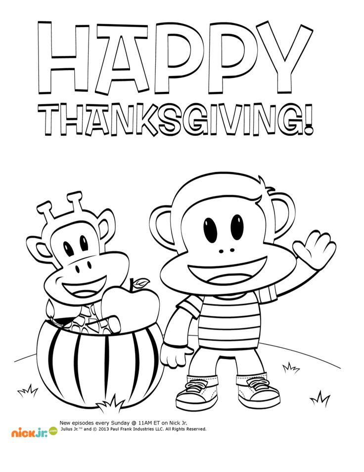 Nick Jr Coloring Pages Thanksgiving