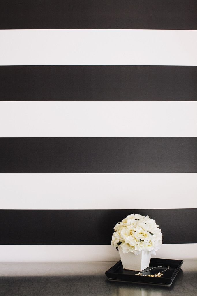 Stripes stripe walls powder and stripe accent walls - Black and white striped wall ...