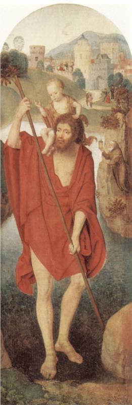 Hans Memling, St. Christopher, 1480