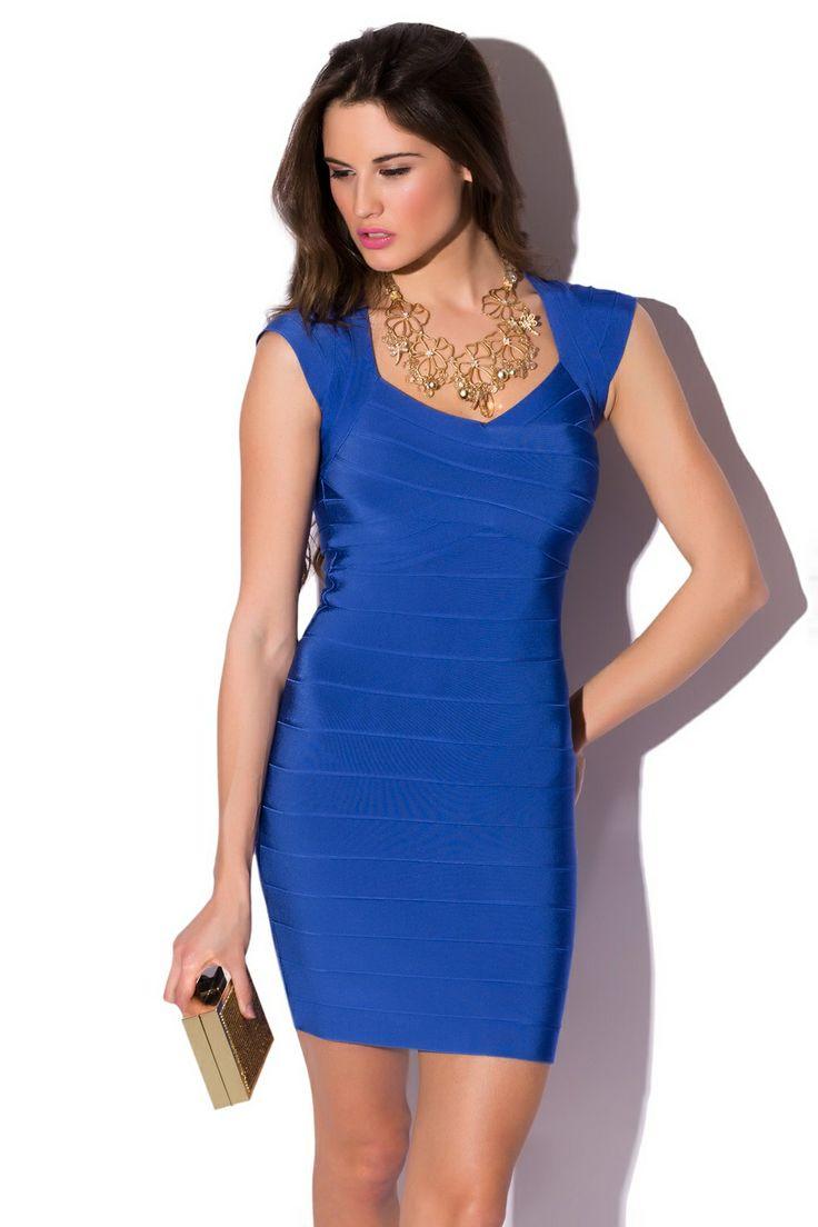 Vestido de noche azul klein walker