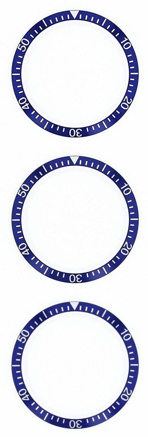 Other Watch Parts and Tools 180246: Bezel Insert For Omega Seamaster 120 Blue 36 X 30.4 BUY IT NOW ONLY: $34.9