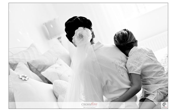 Remember to make time for the little things on your wedding morning. Our beautiful bride Melissa takes a moment to sit with daughter Ruby. #Documentaryweddingphotography Photography by Crossfire Photography www.crossfirephot... #LancashireWedding Photographers. Please do not crop or remove watermark. © Copyright Crossfire Photography 2013