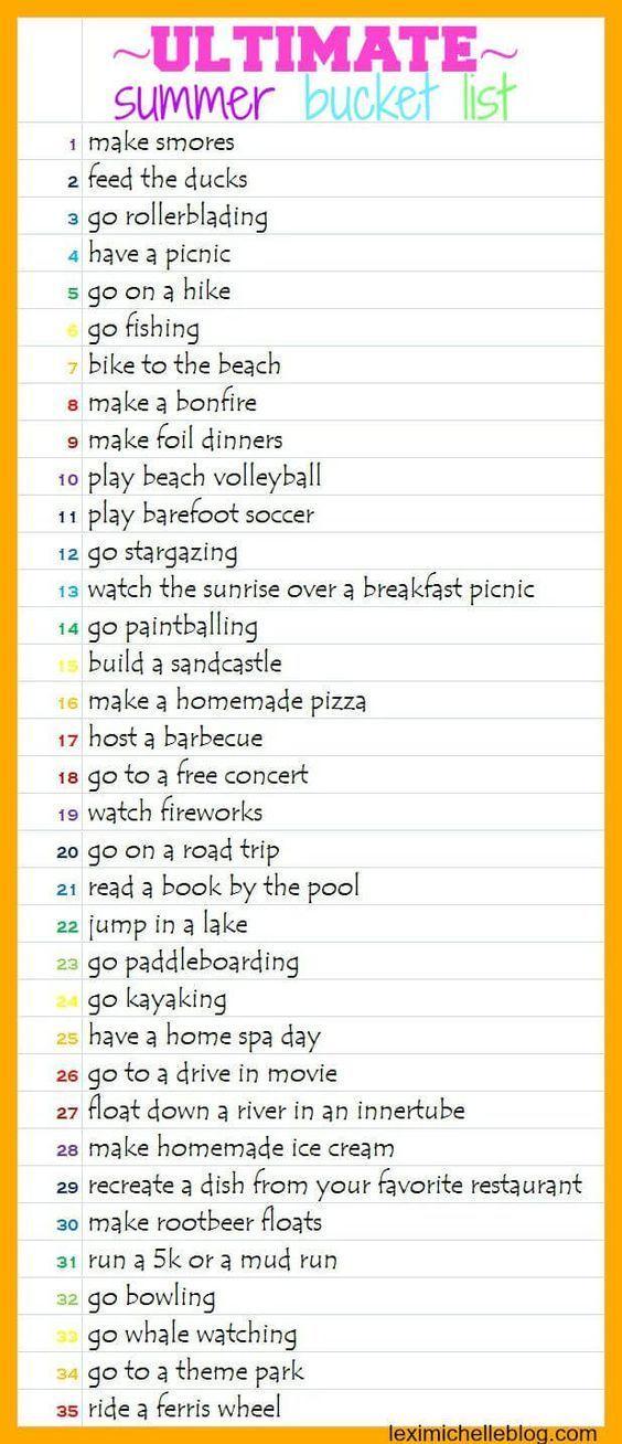 Best Friend Summer Bucket List Tumblr