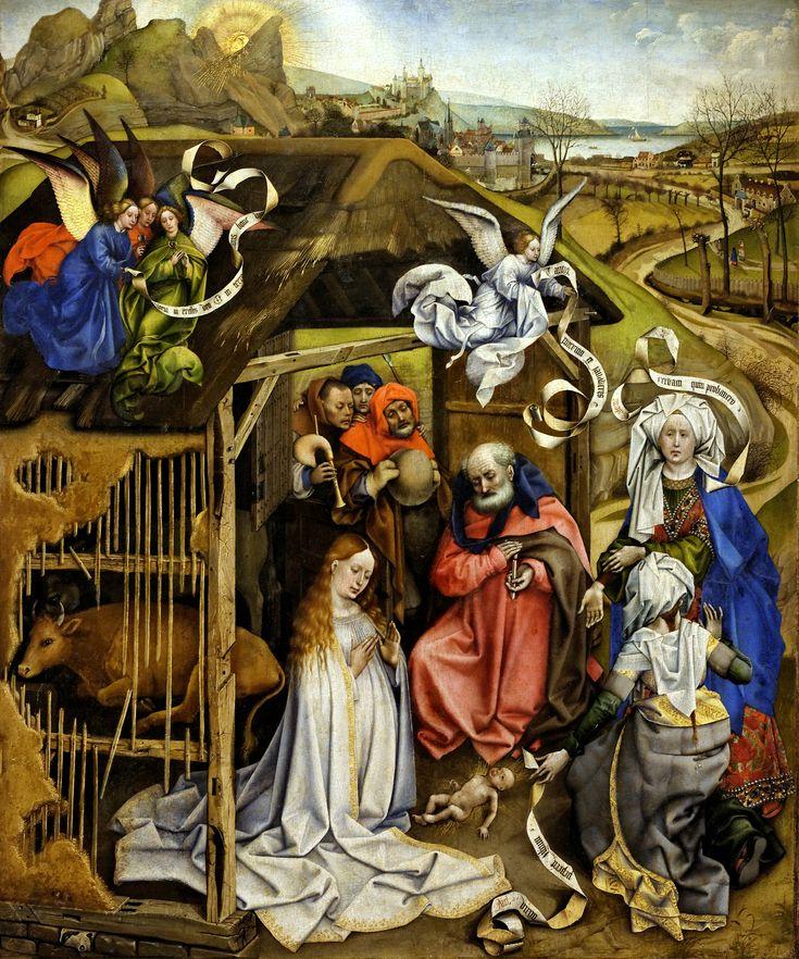 Robert Campin, auch Meister von Flémalle genannt (Valenciennes 1378/79 - Tournai 1444/45) Geburt Christi (ca. 1420) Musée des Beaux-Arts de Dijon
