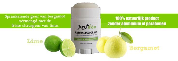 Bergamot & Lime natural deodorant, natuurlijke lichaamsverzorging, deodorant