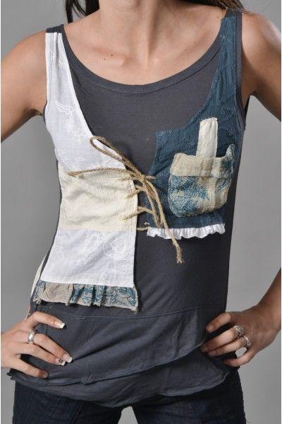 Rajout dentelle sur t-shirt