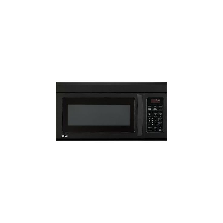 LG LMV1831S 1.8 Cu. Ft. Over-The-Range Microwave Oven with Sensor Cooking Smooth Black Microwave Ovens Microwave Over-the-Range