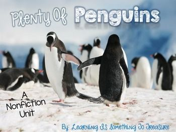 This non-fiction penguin unit is sure to grab and keep your students' attention! This unit is jam-packed with information on 10 different species of penguins, including: Emperor, King, Chinstrap, Crested, Little, Rockhopper, Adelie, Macaroni, Gentoo, and African Penguins Included in this unit are: *1-2 pages of facts for each species of penguin mentioned above *Posters with pictures of each species of penguin *Penguin Vocabulary Cards *General Penguin KWL, Circle, and Tree Map *Circle and…
