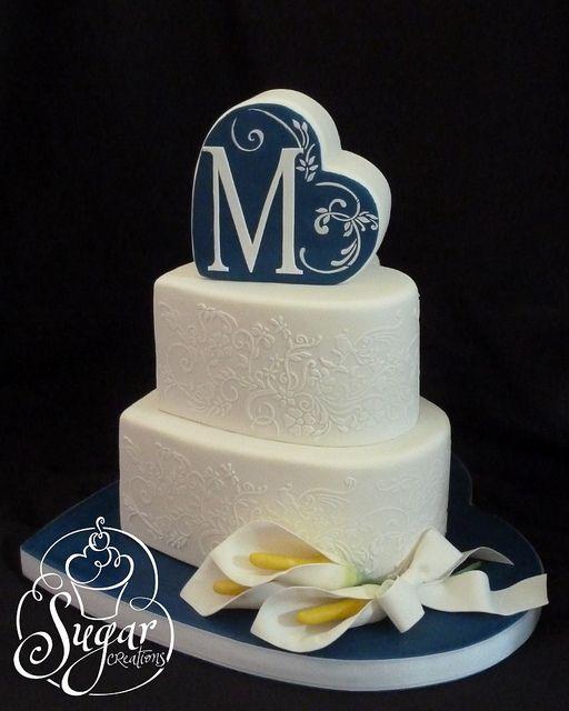 heart-shaped wedding cake | Flickr - Photo Sharing!