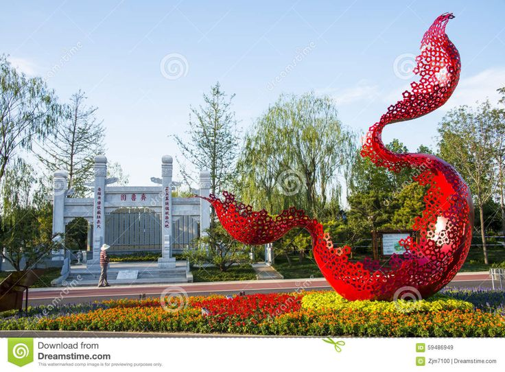 asia-china-wuqing-tianjin-green-expo-stone-archway-red-landscape-sculpture-simple-elegant-modern-style-59486949.jpg (1300×958)