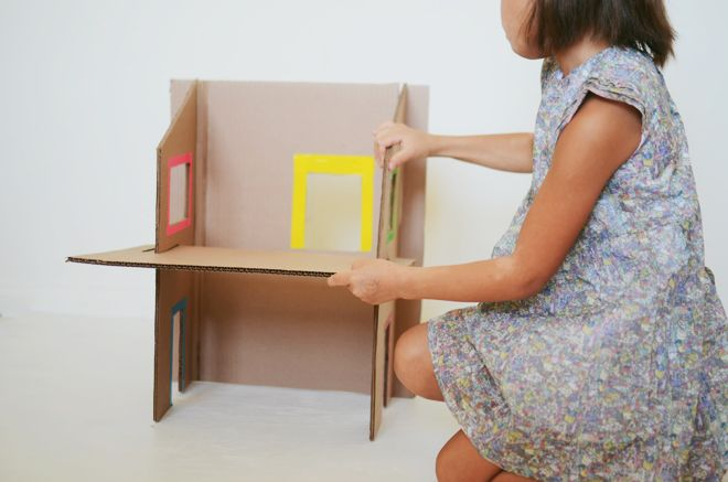 how to make barbie doll furniture from cardboard